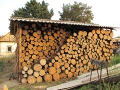 Заготовка дров на даче
